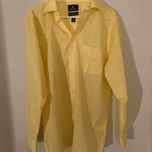 Stafford Men's Yellow Dress Shirt